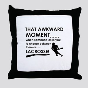 Lacrosse sports designs Throw Pillow