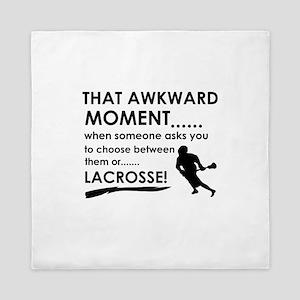 Lacrosse sports designs Queen Duvet