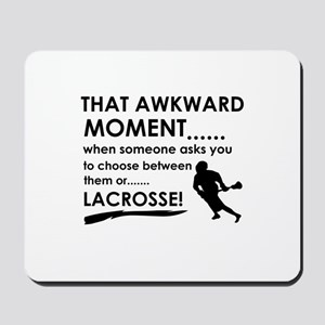 Lacrosse sports designs Mousepad