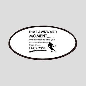 Lacrosse sports designs Patches