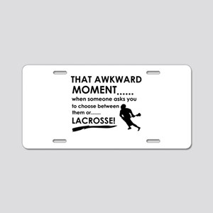 Lacrosse sports designs Aluminum License Plate
