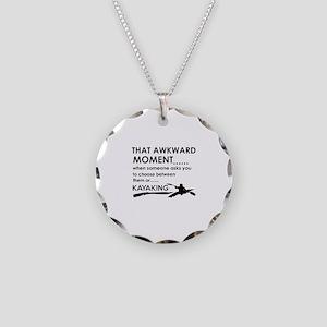 Kayaking sports designs Necklace Circle Charm