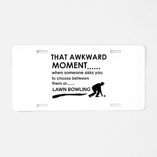 Lawn Bowling sports designs Aluminum License Plate