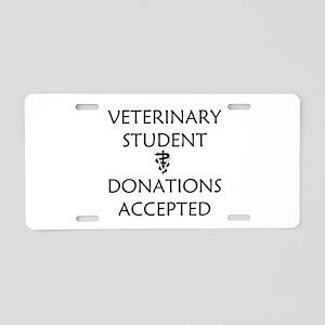 Vet Student Donations Accepted Aluminum License Pl