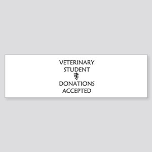 Vet Student Donations Accepted Sticker (Bumper)