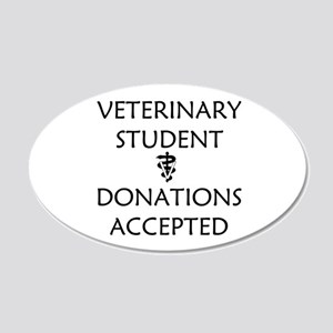 Vet Student Donations Accepted 20x12 Oval Wall Dec