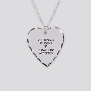 Vet Student Donations Accepted Necklace Heart Char