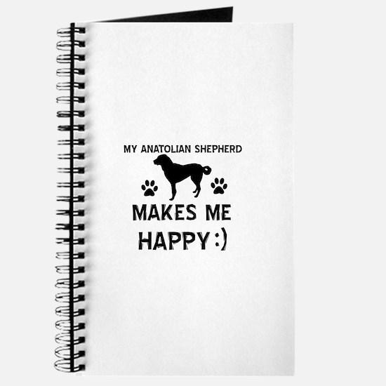 My Anatolian Shepherd makes me happy Journal