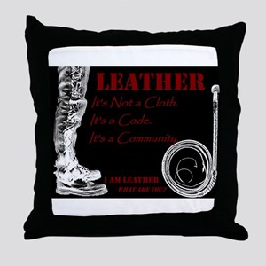 LEATHER Is - BDSM Design Throw Pillow