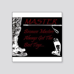 Master's Toys - BDSM Design Sticker