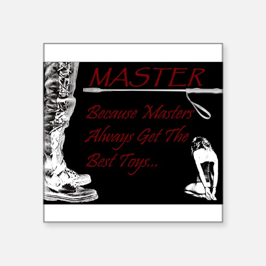 Master's Toys - BDSM Design Sticker