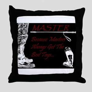 Master's Toys - BDSM Design Throw Pillow