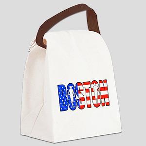 Boston patriot Canvas Lunch Bag