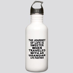Traveled With Ugandan Stainless Water Bottle 1.0L