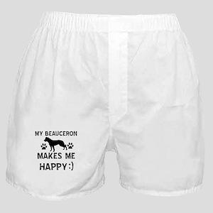 My Beauceron makes me happy Boxer Shorts