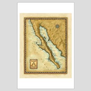 Baja Map Posters
