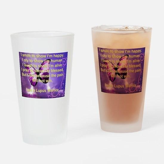 Lupus Warrior Drinking Glass