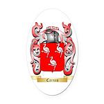 Carnes Oval Car Magnet