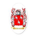 Carne Oval Car Magnet