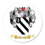 Carnall Round Car Magnet