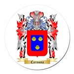 Carmona Round Car Magnet