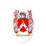 Carmen Oval Car Magnet