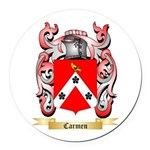 Carmen Round Car Magnet