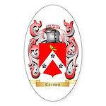 Carmen Sticker (Oval 10 pk)