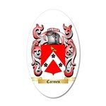 Carmen 20x12 Oval Wall Decal