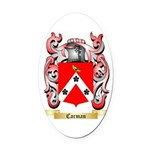 Carman Oval Car Magnet