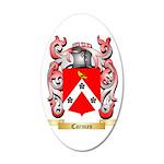 Carman 35x21 Oval Wall Decal
