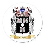Carlyon Round Car Magnet