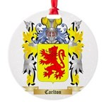 Carlton Round Ornament