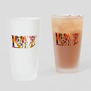 PITBULL LOVE Drinking Glass