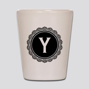 Monogram Medallion Y Shot Glass