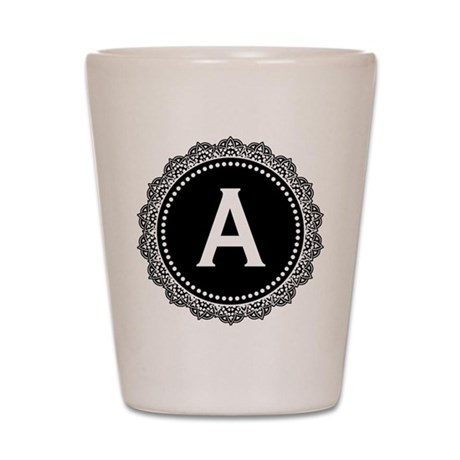 Monogram Medallion A Shot Glass
