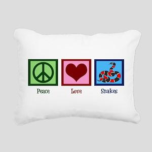 Peace Love Snakes Rectangular Canvas Pillow
