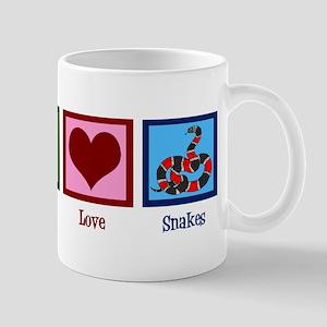 Peace Love Snakes Mug