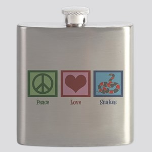 Peace Love Snakes Flask