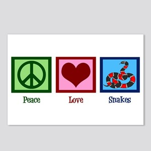 Peace Love Snakes Postcards (Package of 8)