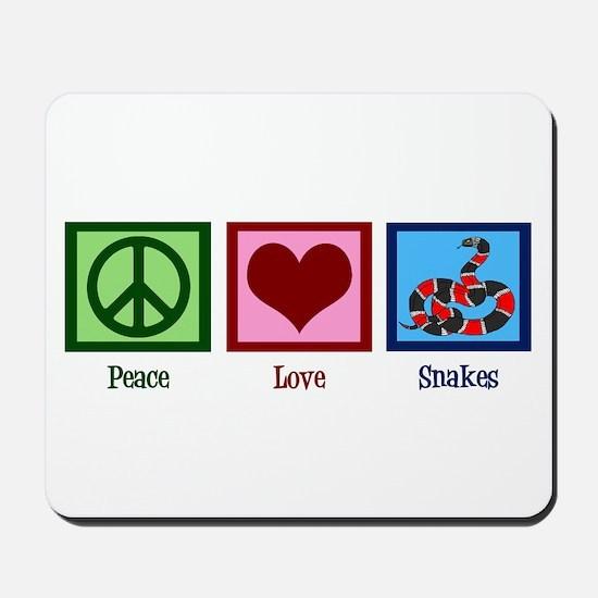 Peace Love Snakes Mousepad
