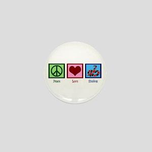 Peace Love Snakes Mini Button