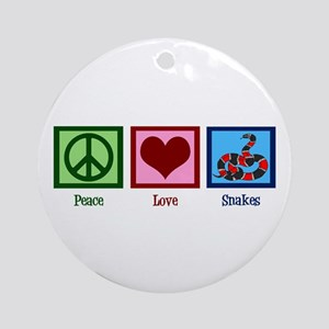 Peace Love Snakes Ornament (Round)