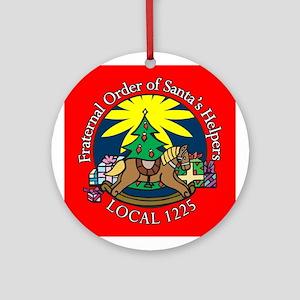 Santa's Helper Ornament (Round)