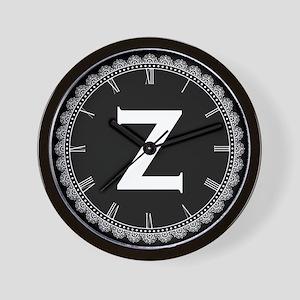 Monogram Medallion Z Wall Clock