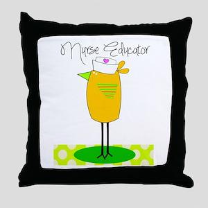 nurse educator Throw Pillow