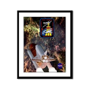 STS 118 Endeavour New Crew Framed Panel Print