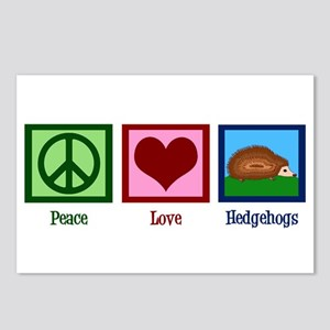 Peace Love Hedgehogs Postcards (Package of 8)