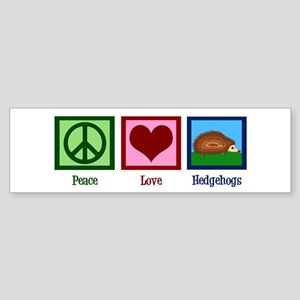 Peace Love Hedgehogs Sticker (Bumper)