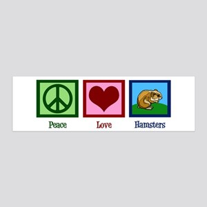 Peace Love Hamsters 20x6 Wall Decal